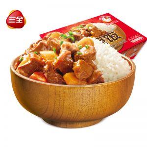 一碗飯紅燒牛肉375g自加熱米飯