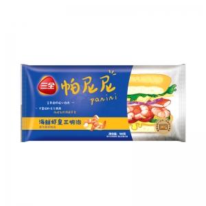 三全早餐系列海鲜虾皇帕尼尼100g单人份
