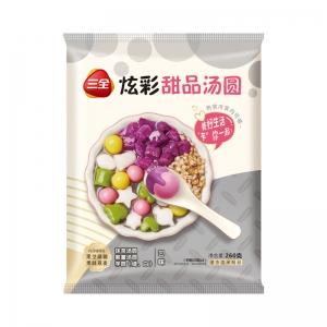新品三全炫彩甜品湯圓紫薯/抹茶/芋圓口味小元宵奶茶下午茶260g
