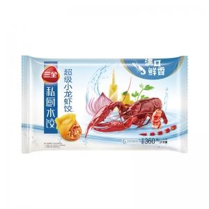 三全私厨水饺超级小龙虾饺子海鲜水饺小龙虾馅21只装360g一人份