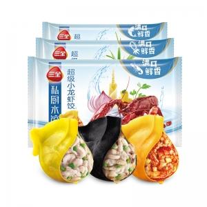 三全私厨超级小龙虾/超级鲅鱼/超级墨鱼水饺21只*360g*3袋