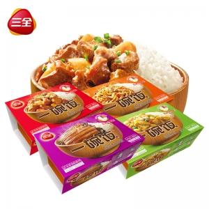 一碗飯4口味4盒375g*4自加熱米飯