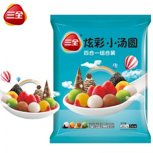 炫彩小湯圓金沙混合裝藍色260g