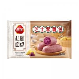 三全私廚速凍面點營養早餐芝士紫薯包360g/袋12只