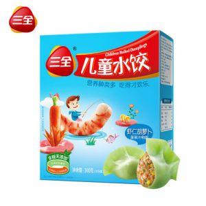 儿童水饺虾仁胡萝卜300g