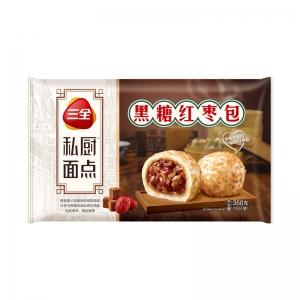 三全私廚速凍面點營養早餐黑糖紅棗金麥包360g/袋12只