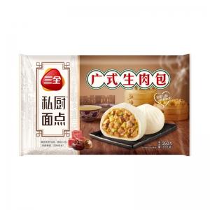 三全私廚速凍面點包子營養早餐廣式生肉包360g/袋12只