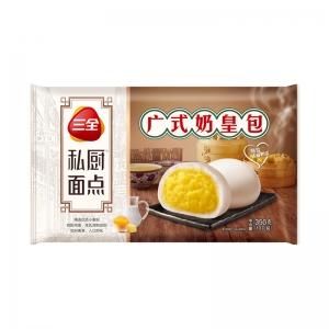 三全私廚速凍面點營養早餐廣式奶皇包360g/袋12只