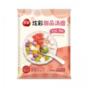 新品三全炫彩甜品汤圆巧克力/黑芝麻/芋圆小元宵奶茶下午茶260g