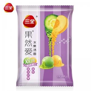 三齐果真爱汤圆双黄瓜柠檬黄桃320g